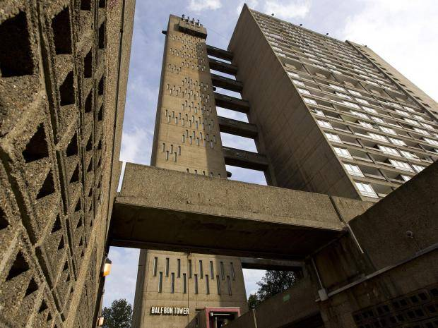 Balfron Tower in the Poplar District of the East End of London