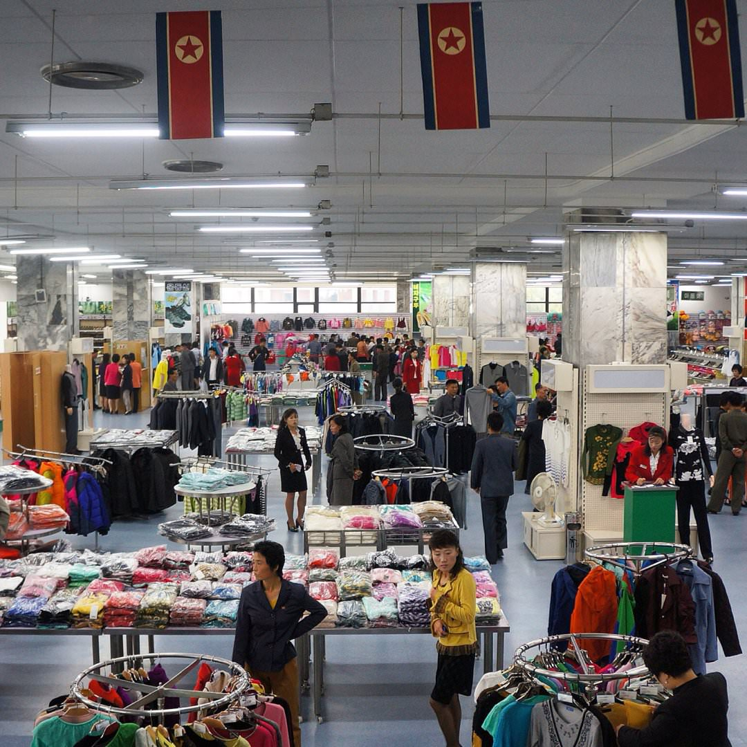 department store in North Korea