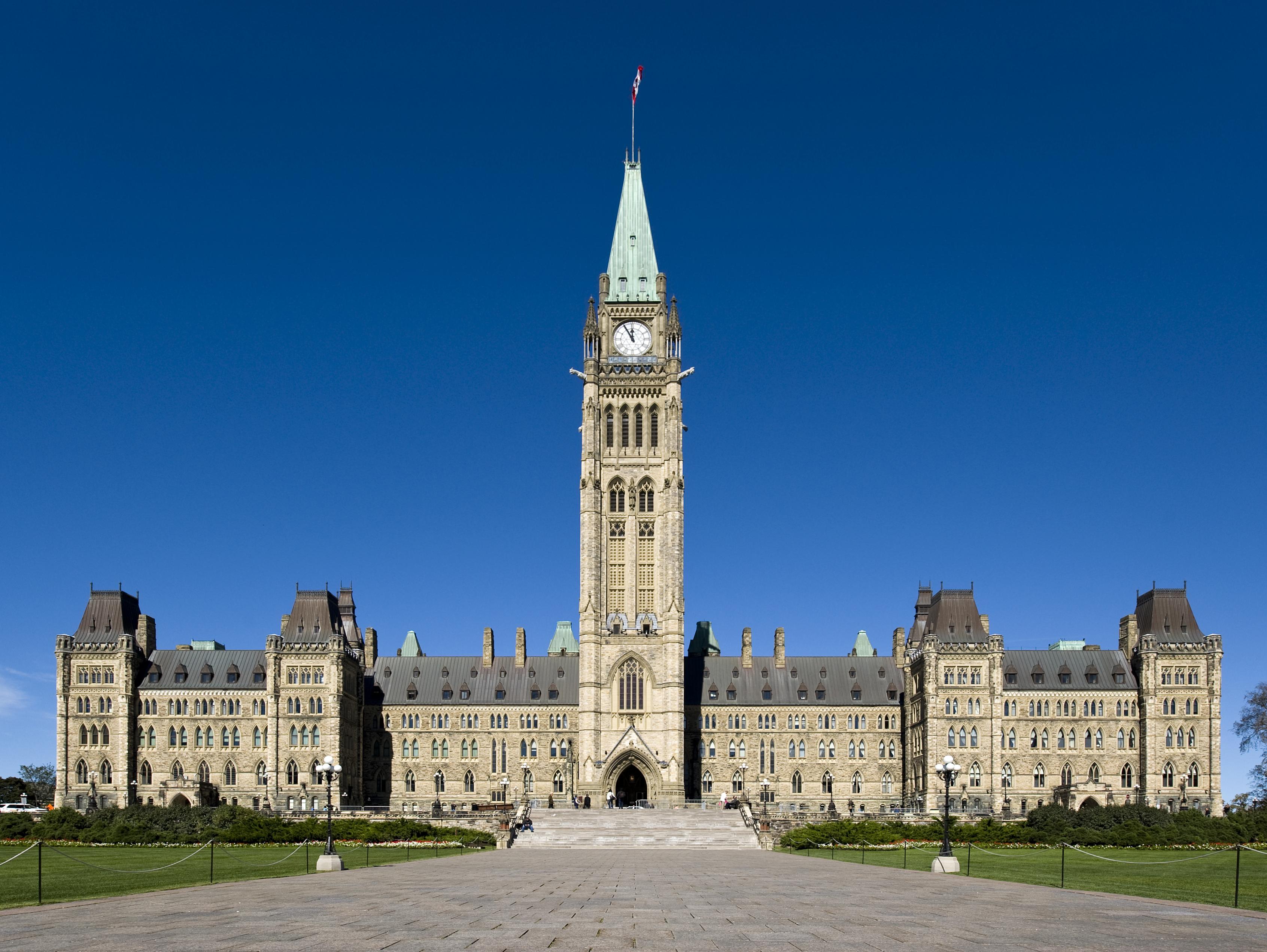 Centre Block Canadian Parliament Building Parliament Hill