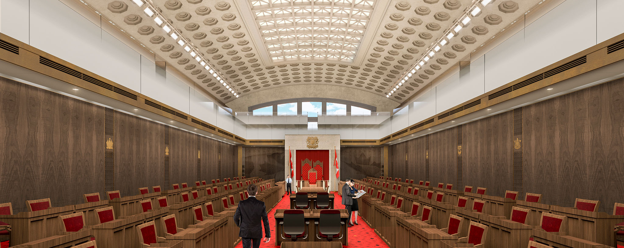 Canadian Senate chamber (temporary in Ottawa Union Station)