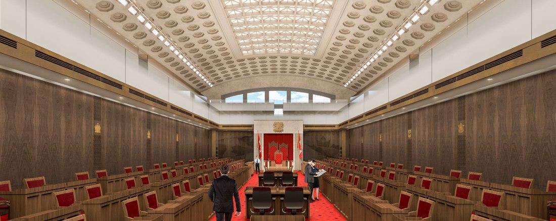 Canadian Senate chamber (temporary in Ottawa Union Station)
